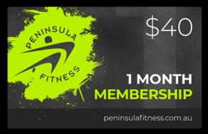Peninsula Fitness Gift Card - 1 Month Membershi[