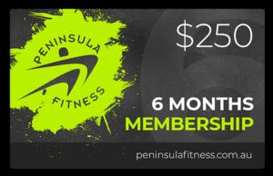 Peninsula Fitness Gift Card - 6 Months Membershi[