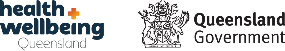 Health and Wellbeing Queensland and Queensland Government Logos